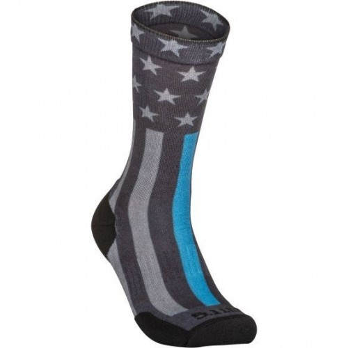 Ponožky Sock & Awe Crew Thin Blue Line